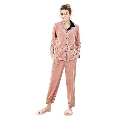 Goodsv Mujer De Terciopelo Pijama Traje Pantalón De Manga Larga ...