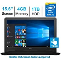 Dell Inspiron 15.6 HD Touchscreen Laptop PC (Intel Core i3-5005U 2.0 GHz Processor, 4GB DDR3L RAM, 1TB HDD, DVD+/-RW, HDMI, Bluetooth, WIFI, Windows 10 Home) (Certified Refurbished)