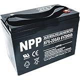NPP 6V 200 Amp NP6 200Ah AGM Deep Cycle Camper Golf Cart RV Boat Solar Wind Battery