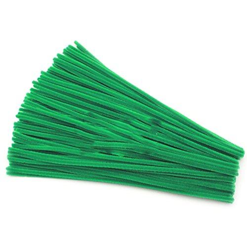 Rimobul Creative Arts Chenille Stem Class Pack,6 mm x 12 Inch, Green, Pack of 100