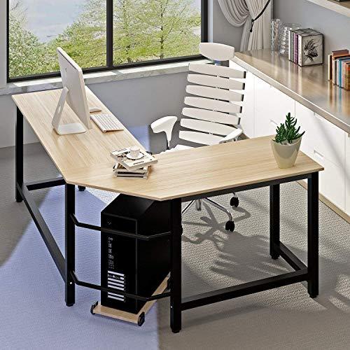 Modern Computer Desk L Shaped Corner Desk Home Office Desks,More Stable Structure Table,Design By Ulikit