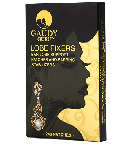 - Ear Lobe Support Patches and Earring Stabilizers (240 Invisible Patches) #1 Voted in Hollywood. Lobe Fixers by Gaudy Guru (Invisible)