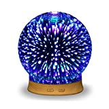 3D Glass Essential Oil Diffuser - Ultrasonic Aroma Scent Diffuser...