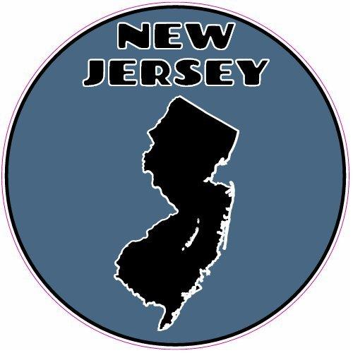 U.S. Custom Stickers New Jersey State Circle Sticker, 3