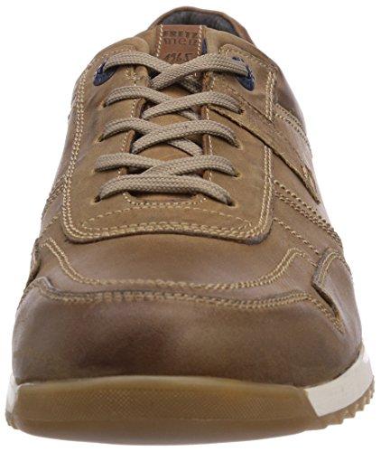 FRETZ men Tobias - zapatilla deportiva de cuero hombre marrón - Braun (56 cigar)