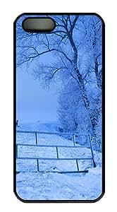 Snow Scenery Polycarbonate Custom iPhone 5S/5 Case Cover - Black