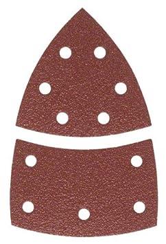 Bosch 2 609 256 A66 - Juego de hojas de lija de 10 piezas para lijadora mú ltiple 2609256A66