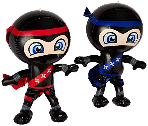 Set of 6 Inflatable 24 NINJAS/PARTY Decorations/INFLATES/Toys/Red/Blue/DECOR