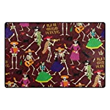 Cooper girl The Skeleton Dance Pad Printed Carpet 60X39 Inches Area Rug for Outdoor Indoor Decor