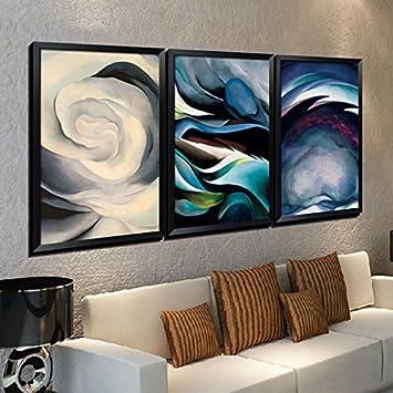 Paintsh Wohnzimmer Dekorative Malerei Abstrakte Triptychon Wandbild