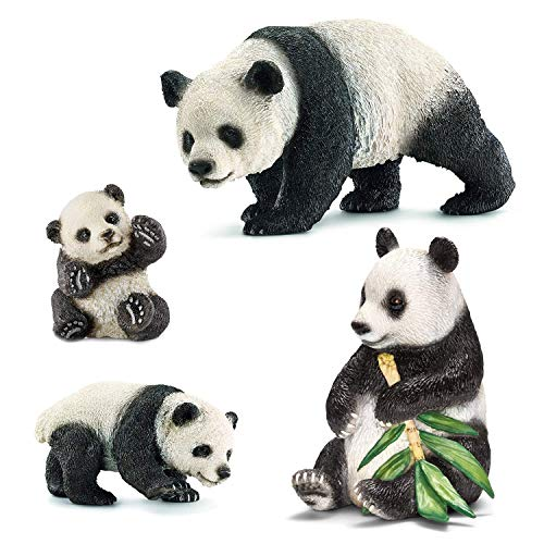 (Liberty Imports Cute Giant Panda Family Toy Figures with Cubs - Safari Zoo Animals Plastic Figurines - Educational Detaild Gift Set for Kids Children (4 Pieces))
