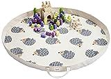 3 Sprouts Play Mat Bag, Hedgehog, Grey