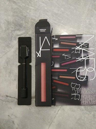 NARS Powermatte Lip Pigment, AMERICAN WOMAN, Sample Card