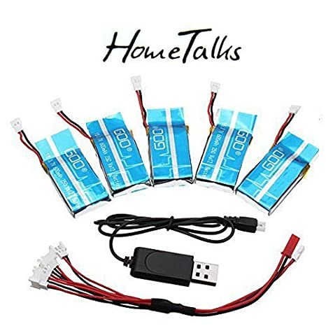 Hometalks® Syma X5C / X5SC / X5SW 1 bis 4 3.7V 600MAH Upgrade-Batterie-Set von 5 Timetalks