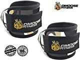 Ankle Straps for Cable Machines by DMoose Fitness (Grey Camo, Pair)