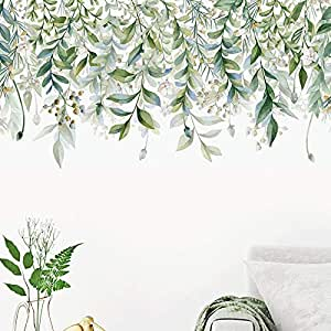 Holly LifePro Art Murals Tropical Nature Palm Tree Leaf Plants Green Leaves for Bedroom Living Room Classroom Offices Home Decoration Stick Wall Decals Style-3