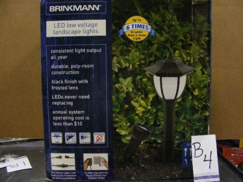 BRINKMANN 8428-0303-06 LED 4 Pathway & 2 Spotlight kit - 20Watt Transformer Low Voltage Included