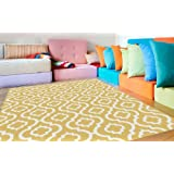 Universal Rugs 1023 Yellow Metro Contemporary Area Rug, 5-Feet 3-Inch by 7-Feet 3-Inch, Yellow