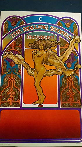 Concert Tea - 1969 Rolling Stones in Concert David Byrd art Tea Lautrec Litho San Francisco