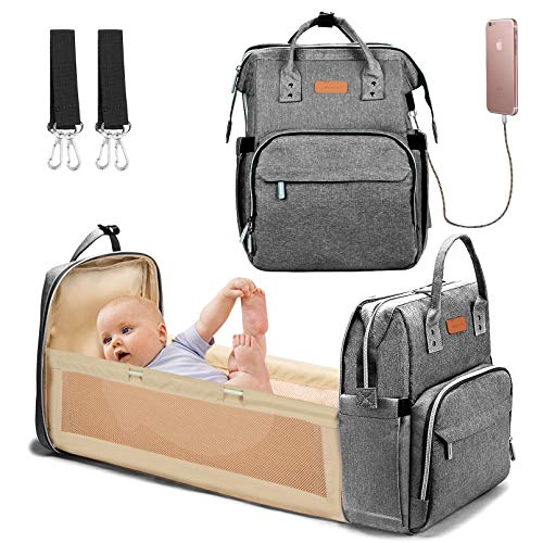 Baby Changing Bag Backpack Multifunctional Diaper Bag Nappy Changing Bag Travel Back Pack with Changing Mat Waterproof…