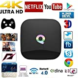 Guleek Qbox Amlogic S905 Quad Core Smart Android TV BOX 4K KODI XBMC Sports Movies Streaming Player Bluetooth Enabled (2GB+16GB)
