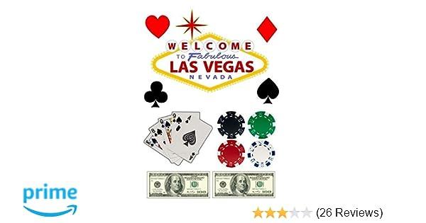 1/4 Sheet - Las Vegas Casino Birthday - Edible Cake/Cupcake Party Topper!!!
