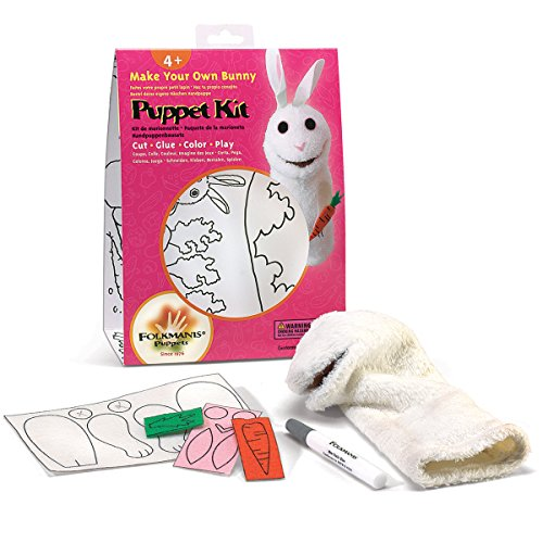 Folkmanis Bunny Hand Puppet Craft Kit ()