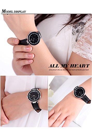 AStarsport Womens Girls Butterfly Rhinestone Scale Watches Analog Quartz Leather Watch Male Casual Wristwatch Black by AStarsport (Image #2)