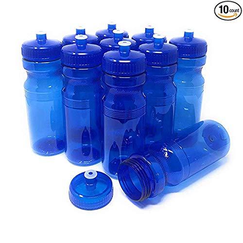 Personalized Plastic Water Bottles (CSBD 24 oz PET Water Bottles 10 Pack (24 Ounces,)