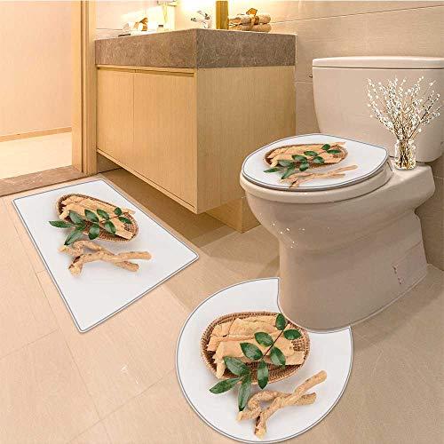 - MikiDa Bathroom Non-Slip Rug Set tongkat ali eurycoma longifolia jack in Bath Mat Bathroom Rugs
