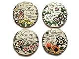 Decorative Stepping Stones For Garden Bundle: Four Items: Set Of 4 Mosaic Decorative Stepping Stones