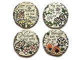 Decorative Stepping Stones For Garden Bundle: Four Items: Set Of 4 Mosaic Decorative Stepping Stones
