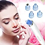 Blackhead Remover Blackhead Vacuum Suction Remover, USB Rechargeable Blackhead Comedo Vacuum Suction Facial Pore Cleanser Acne Extractor, Electric Skin Cleaner Blackhead Extraction Tool, (White)