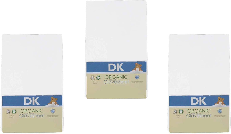 Bio Drap-housse en 100/% Coton Organique pour Matelas du Berceau de Chevet Rose DK Glovesheet