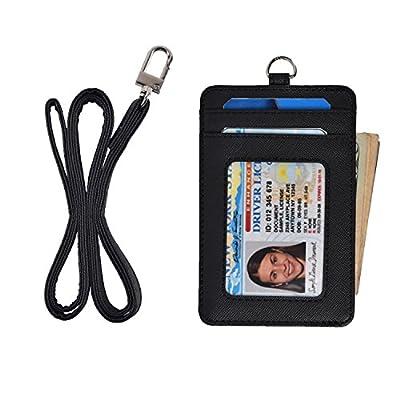 Women Credit Card Holder Id Card Case Slim Mens Leather Wallet Neck Wallet Purse