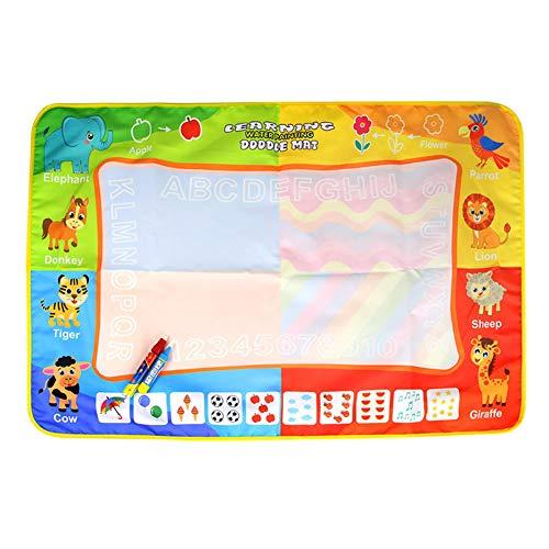 XuBa 赤ちゃんのおもちゃ 子供の教育 子供マジックウォーターキャンバスブランケット 落書きペン 落書きの 88 * 58センチメートル