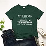 SNOWSONG Unisex Short Sleeve Tshirts Funny Letter