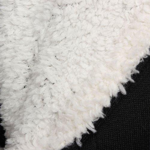 Womens Pullover Jumper Hoodie Hooded Coat Warm Sweatshirt Outerwear Jacket,Black,L