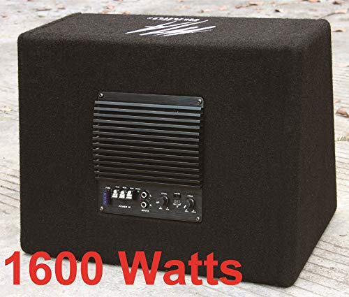 10 inch Active bass subwoofer box 1600 watts Extreme Bass cables