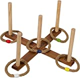 16.5'' Wooden Ring Toss Game with Carry Bag By Trademark Innovations