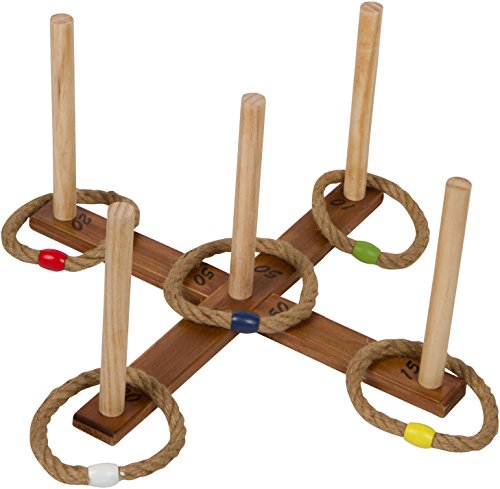 16.5'' Wooden Ring Toss Game with Carry Bag By Trademark Innovations by Trademark Innovations