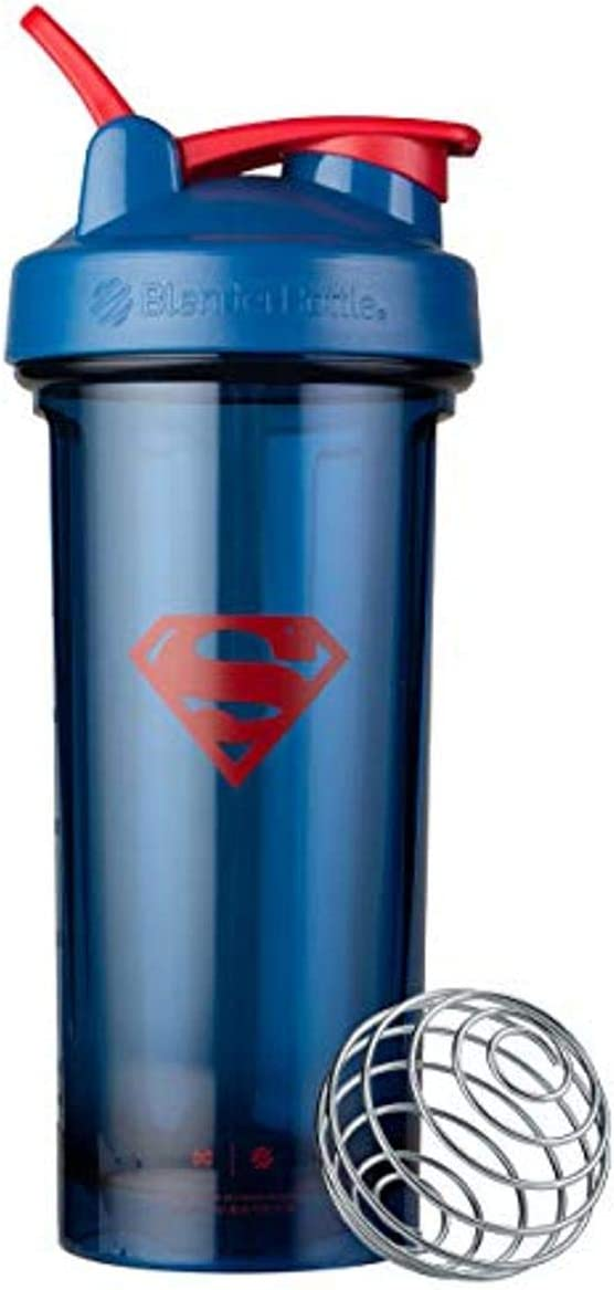 BlenderBottle Justice League Shaker Bottle Pro Series Perfect for Protein Shakes and Pre Workout, 28-Ounce, Superman