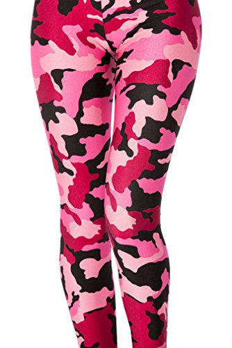 Red Camouflage Bdu Pants - Maxi BDU Active Camo Military Army Camouflage Print Leggings for Women