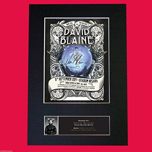 David Blaine Magician Quality Mounted Photo Print A4