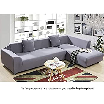 Amazon.com: cjc Universal Sofa Covers for L Shape, 2pcs ...