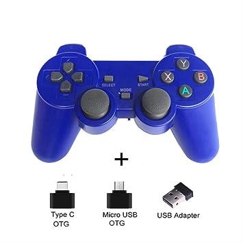 Amazon.es: SMEI Gamepad Inalámbrico para Teléfono Android/Pc / Ps3 / TV Box Joystick 2.4g Joypad Controlador De Juego para Xiaomi Smart Phone Accesorios De Juego Azul