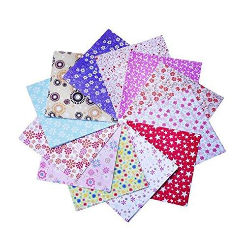 Da.Wa 72 feuilles Papier origami 15 x 15 cm en 12 couleurs et motifs différents