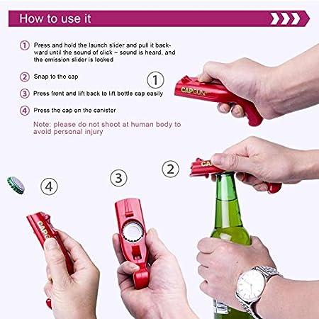 Kining Abrebotellas Pistola Creativa Lanzador Abridor De Botellas De Cerveza Abridor Pistola para Inicio Bar Fiesta Beber(1 Pcs)