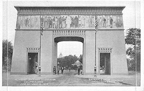 Columbus Ohio Methodist Centenary Celebration Entrance Arch Postcard K93263