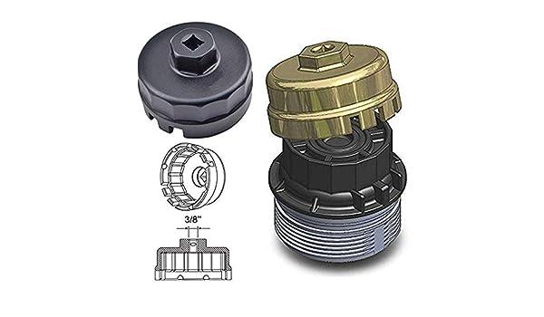 bolaxin llave de filtro de aceite para Toyota Lexus Scion Avalon RAV4 con 2,5 L para motores de 5,7 L sistema de aceite Herramienta: Amazon.es: Coche y moto